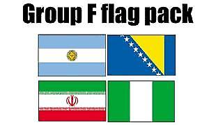 GRUPPE F Football World Cup 2014 flagg Pack (5 ft x 3 ft)