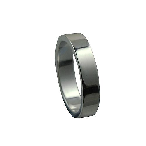 Platinum 4mm plain flat Wedding Ring Size P