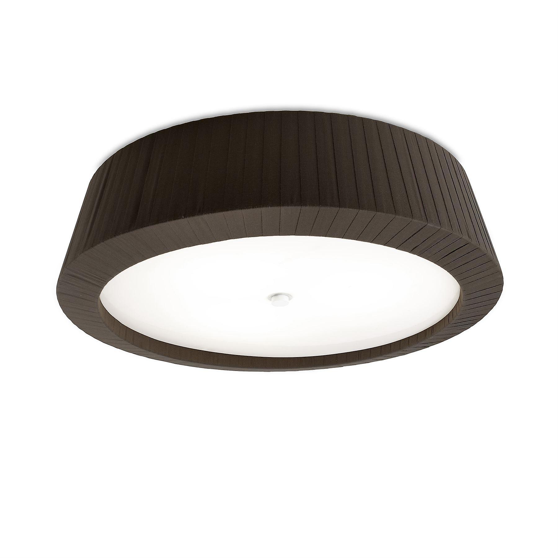Florencia Flush Ceiling Light Large marron - Leds-C4 15-4696-J6-M1