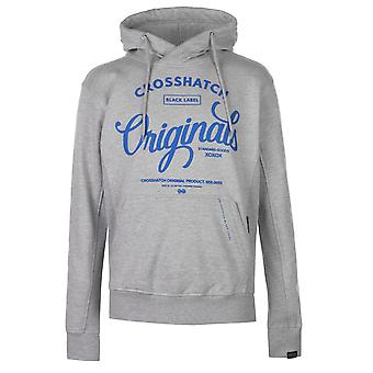 Crosshatch Mens Gilgurry Hoody Lined Hoodie Hooded Top Colour Block Kangaroo