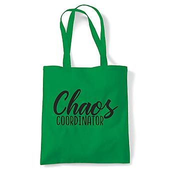 Chaos Co-ordinator, Tote Bag | Reusable Shopping Cotton Canvas Bag Long Handled Natural Shopper Eco-Friendly Fashion | Gym Book Bag Birthday Present Gift Him Her | Multiple Colours Available