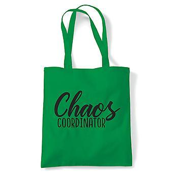 Chaos Co-ordinator, cabas | Reusable Shopping sac de toile de coton depuis longtemps géré Shopper naturel respectueux de l'environnement Fashion | Gym livre sac cadeau présent lui sa | Plusieurs couleurs disponibles