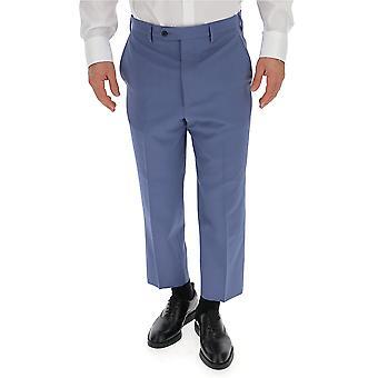 Prada Light Blue Wool Pants