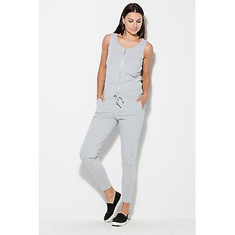 Katrus women's jumpsuits overall grey