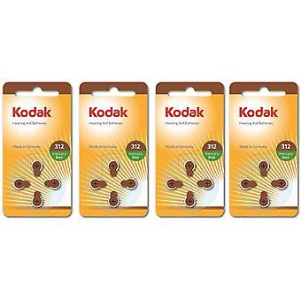 16-pack Kodak sink-luft høreapparat batterier 312, A312, PR41
