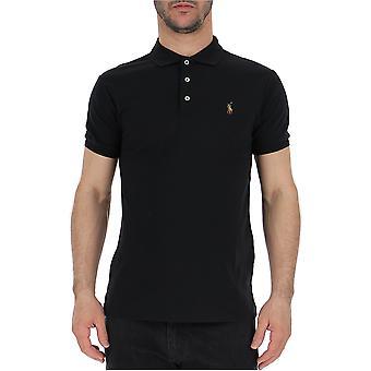 قميص بولو رالف لورين أسود القطن