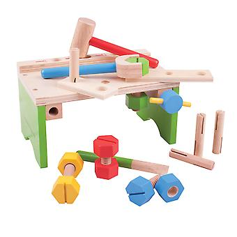 Bigjigs Toys Wooden Carpenter's Tool Work Bench Role Play Pretend