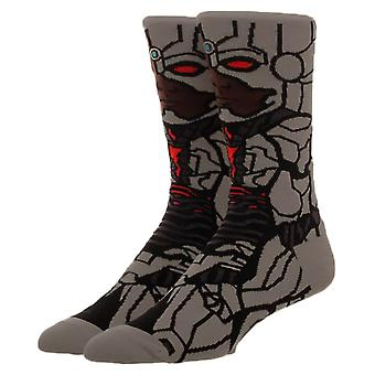 Justice League Cyborg Character Crew Socks  - ONE SIZE