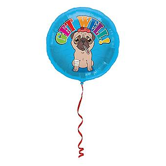 Folienballon Get well Werde Gesund Heliumballon 45 cm