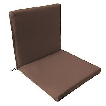 Gardenista® almohadilla de asiento de dos partes de color marrón resistente al agua, paquete de 4