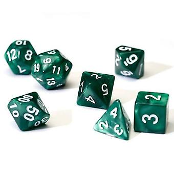Pearl Green Poly Set Dice Set