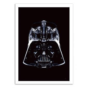 Konst-affisch-Star svart-Rubiant 50 x 70 cm