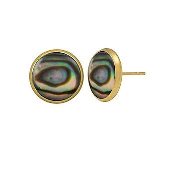 Eeuwige collectie Symphony natuurlijke Paua Shell goud Pierced Earrings Stud Earrings