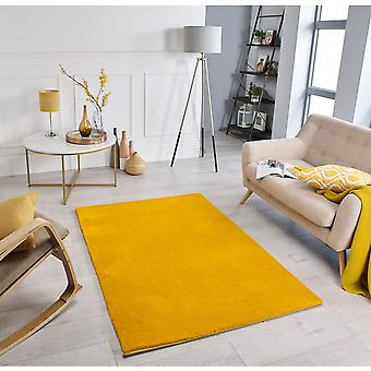 Comfy Mustard  Rectangle Rugs Plain/Nearly Plain Rugs