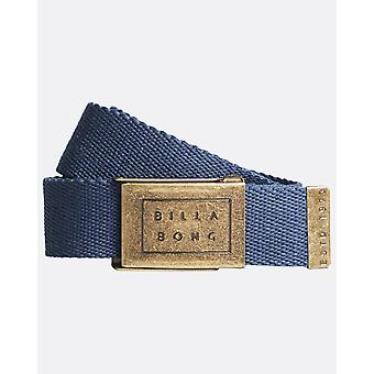 Billabong Woven Cotton Web Belt With Bottle Opener ~ Sergeant dark blue