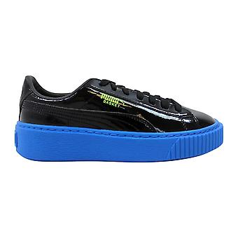Puma Basket Platform Block Jr Black/Plat Blue-Green Gecko 366839 02 Grade-School