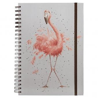Wrendale Designs A4 Flamingo Notebook   Gifts From Handpicked