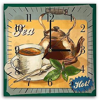 Decorative Clock With Picture, Hot Tea