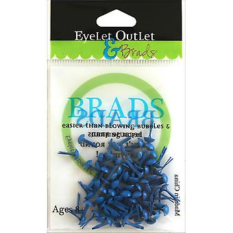 Eyelet Outlet Round Brads 4mm 70/Pkg-Dark Blue BRD4MM-610C