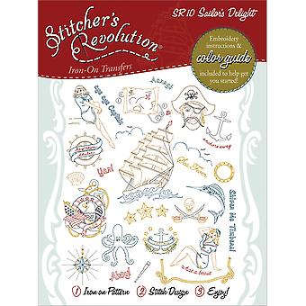 Stitcher's Revolution Iron On Transfers Sailor's Delight Sr 10