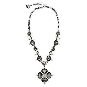 Butler & Wilson Square Shape Drop Crystal Necklace