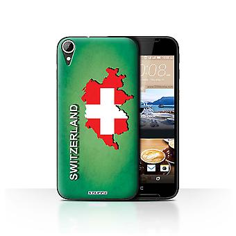 STUFF4 Case/Cover for HTC Desire 830/Switzerland/Swiss/Flag Nations