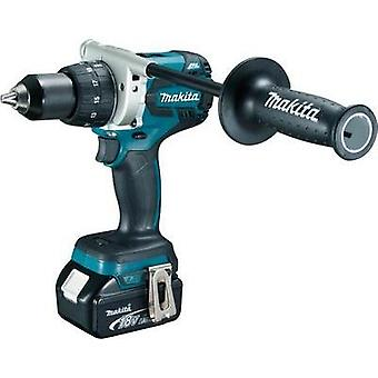 Makita DDF481RTJ Cordless drill 18 V 4 Ah Li-ion incl. spare battery, incl. case
