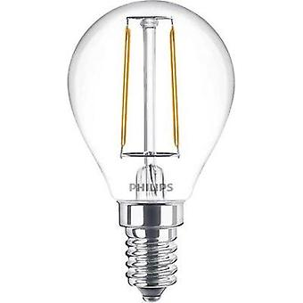 LED E14 Droplet 2 W = 25 W Warm white (Ø x L) 45 mm x 80 mm EEC: A++ Philips Lighting Filament 1 pc(s)