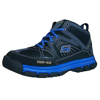 Skechers Challengerz Boys Hi Top Trainers / Walking Boots - Black
