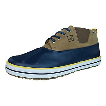 Sperry Fowl Weather Mens Leather Chukka Boots / Shoes - Navy