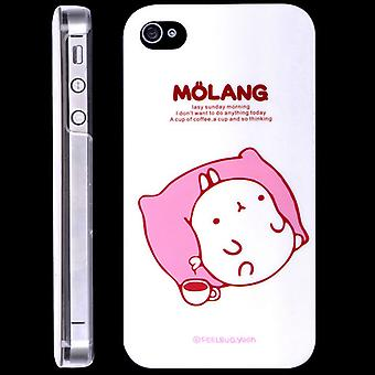 Rabbit Molang pad cover, hard plastic, for iPhone 4/4s