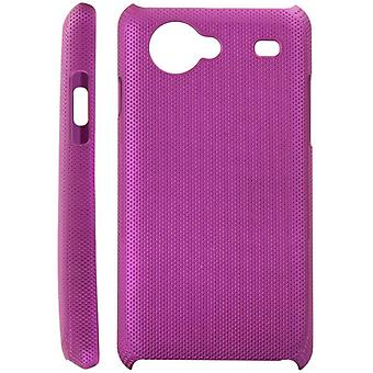 Dotted plastic cover for Samsung Galaxy S Advance i9070 (purple)