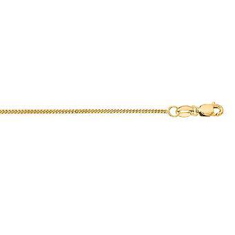 10k geel gouden ketting Gourmette ketting - lengte: 16 tot 24