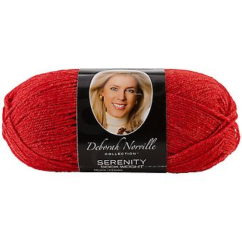 Deborah Norville Collection Serenity Solid Sock Yarn-Red DN150-3