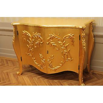 goldenn chest of drawers leaved gold noble pomp