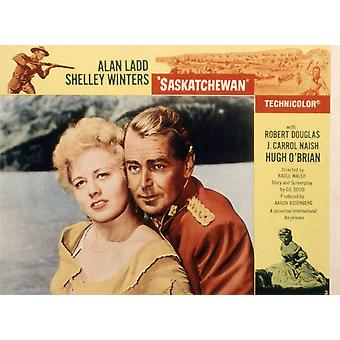 Saskatchewan Shelley Winters Alan Ladd 1954 Movie Poster Masterprint