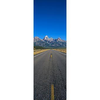 Camino al Parque Nacional Gran Tetón Wyoming Poster Print
