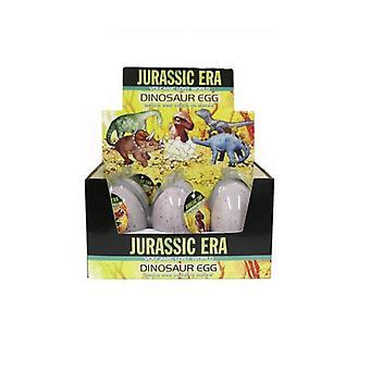 6 Jurassic æra voksende Dinosaur æg i Display boks