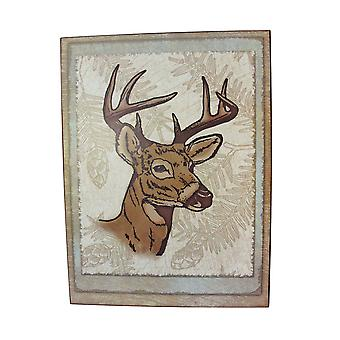 8 Point Buck Wall Hanging Plaque