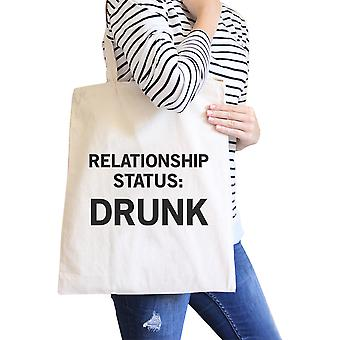 Relationship Status Funny Graphic Canvas Bag Witty Quote Tote