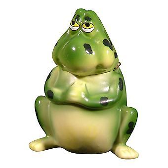 Sød grøn frøen Froggy hængslet nipsting boks