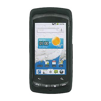 OEM Verizon LG Ally VS740 Snap On Gel Skin Case Cover (Black) (Bulk Packaging)
