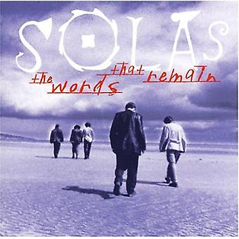 Solas - Words That Remain [CD] USA import