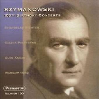 Sviatoslav Richter Oleg Kagan Galina Pedersen - Szymanowski: 100-års fødselsdag koncerter [CD] USA importerer
