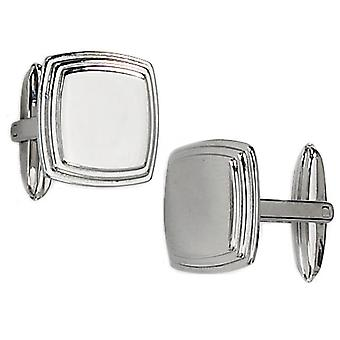 Mens Chisel Cuff Links in Stainless Steel