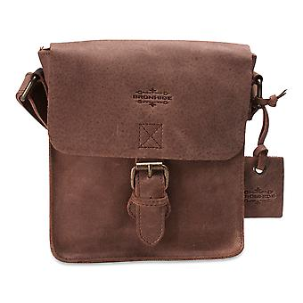 Brunhide Real Waxed Buffalo Leather Ladies Satchel Style Shoulder Bag 150-300