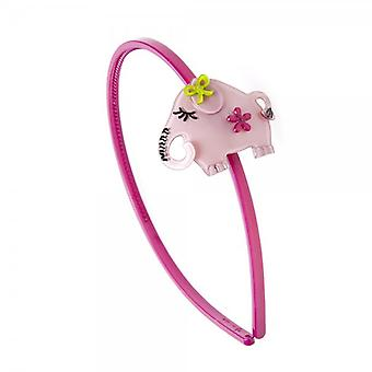 Camille Womens Ladies Acrylic Pink Elephant Alice Band Head Band Hair Accessory