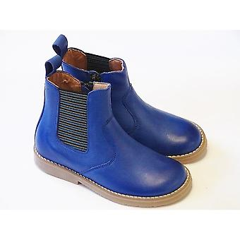 Froddo Boys Chelsea Boots Electric Blue With Stripey Elastic | Froddo Boys Funky Boots Size UK12.5/EU31