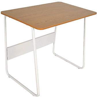 Finsbury - Metal Frame Office Desk / Craft Table - White / Oak