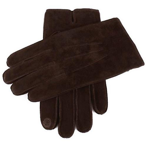 Dents Pigsuede Gloves with Touchscreen Fingertips - Brown